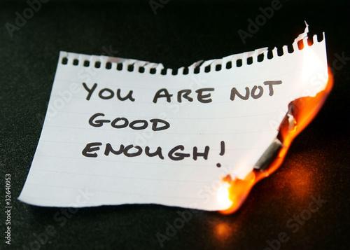 Fotografie, Obraz  overcoming feelings of inadequacy
