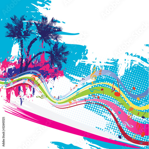 Tropical vector design #32643125