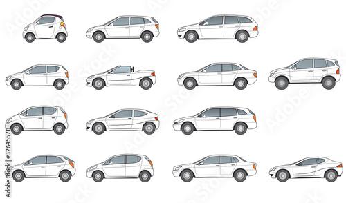 Photo  diverse Autotypen, neutrale