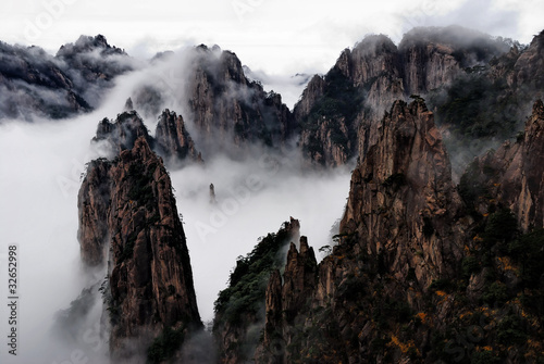 In de dag China Huangshan Cloud Sea