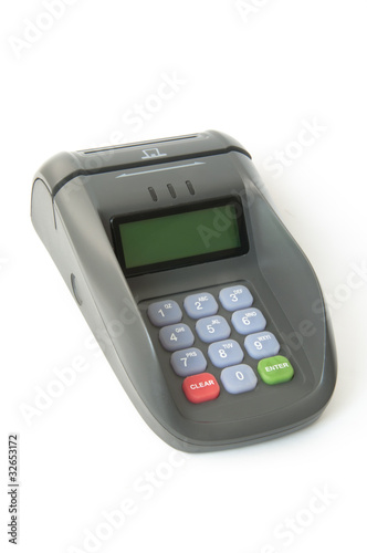 Smart Card And Magnetic Card Reader Buy This Stock Photo And