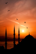 View Of Mosque During Sunset A...