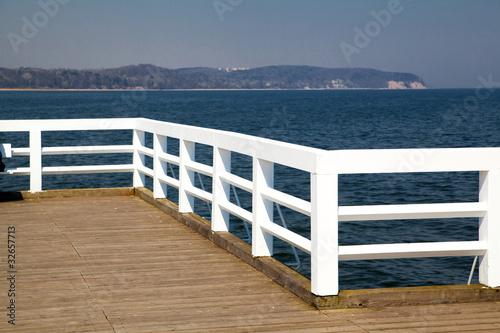 Foto auf AluDibond Pier Wooden pier