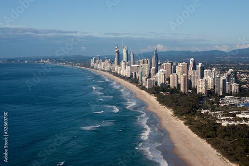 Valokuva  Gold Coast Queensland Australia Coastline Aerial View