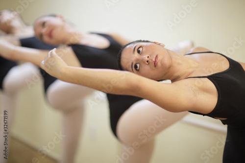 Practicing ballerina Poster