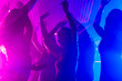canvas print picture - Party people dancing in disco club