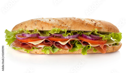 Deurstickers Snack Long sandwich