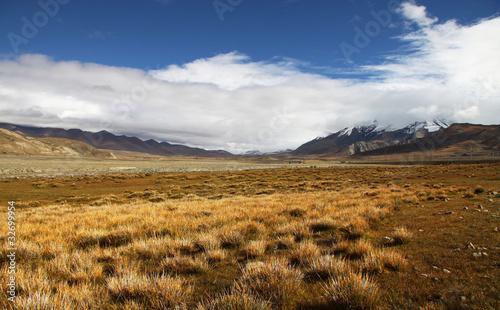 Tuinposter Purper 西藏雪山