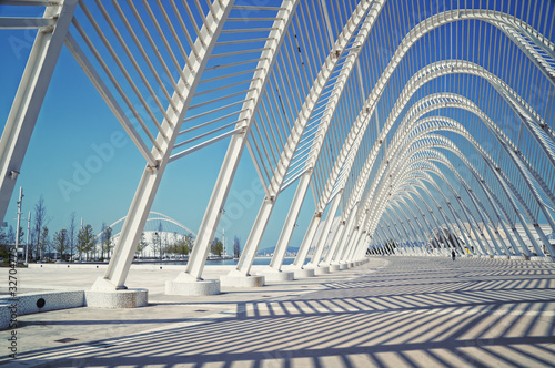 Photo Stands Athens Arch of the Athens Olympic Stadium