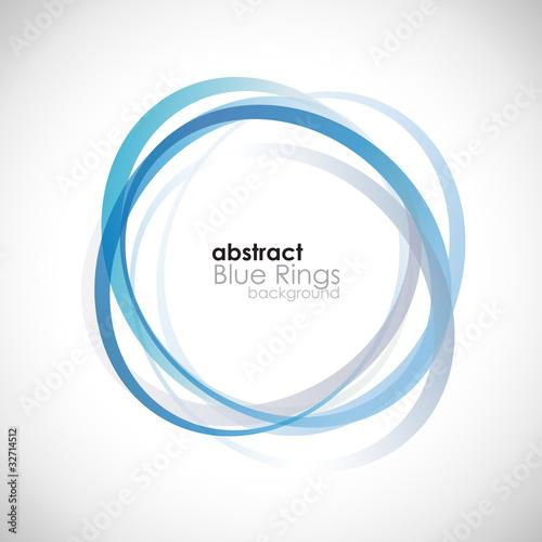 Fotografie, Obraz  Blue Rings Background # Vector