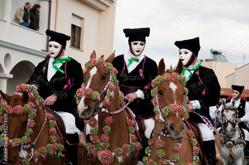 Photo  Sartiglia of Oristano, traditional carnival of Sardinia, Italy