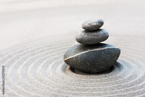 Foto op Plexiglas Stenen in het Zand Zen-Garten