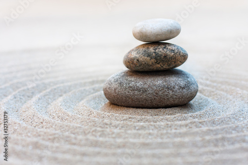 Acrylic Prints Stones in Sand Kare-San-Sui