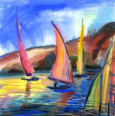 Obraz Sailing regatta