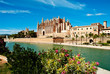 canvas print picture - Cathedral of Palma de Majorca
