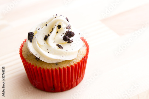 Photo  Cookie frosting cupcake