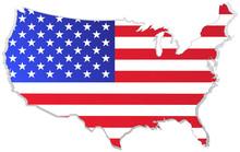 Usa Map With Flag