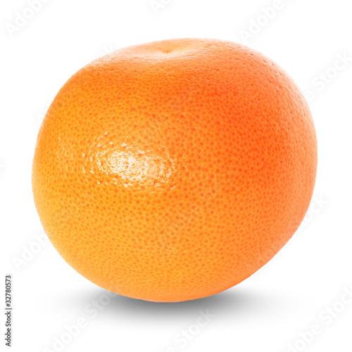 Fototapeta grapefruit over white background obraz na płótnie