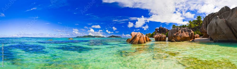 Fototapeta Beach Source d'Argent at Seychelles
