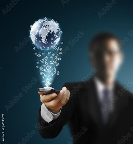 Fotografie, Obraz  Touch screen mobile phone