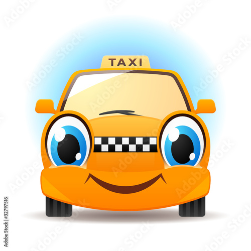 Canvas Prints Cars Funny taxi
