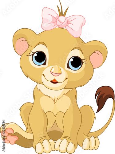 Fotografie, Obraz Lion girl cub