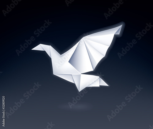 Poster Geometric animals Paper Dove