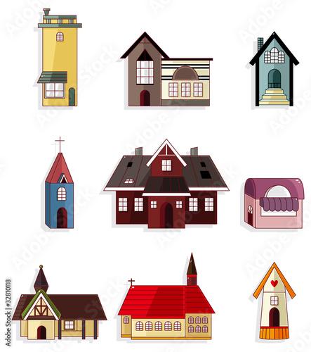 Fototapety, obrazy: cartoon house icon set