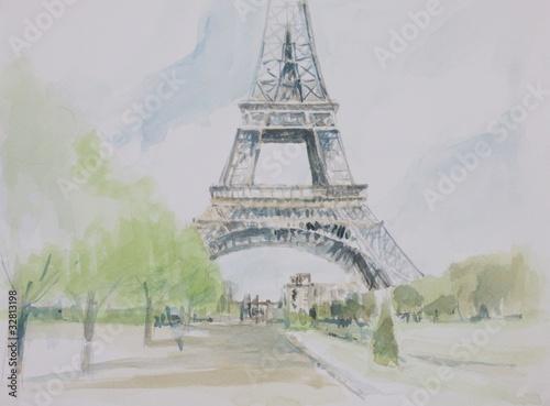Recess Fitting Illustration Paris champ de mars
