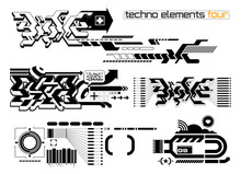 Techno Elemetnts Set Four