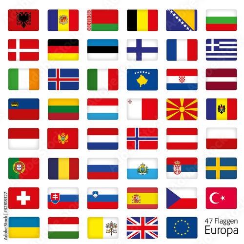 europa flaggen fahnen set buttons icons sprachen 2 stock