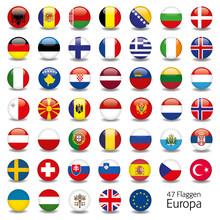 Europa Flaggen Fahnen Set Butt...