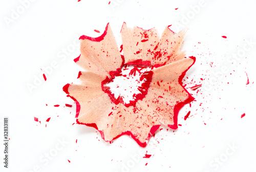 Fényképezés  Red pencil shavings