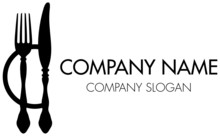 Abstract Company Logo Fork, Kn...