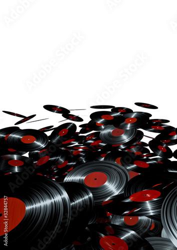 Etiqueta engomada - Lots of vinyl records