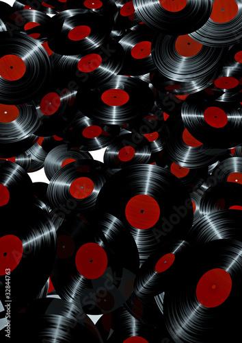 Sticker - Lots of vinyl records