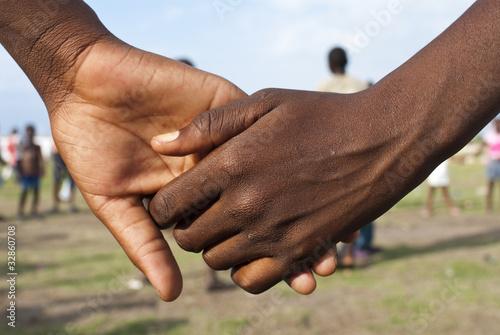 Children Holding Hands Wallpaper Mural