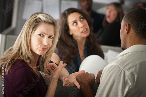 Annoyed Woman Canvas-taulu