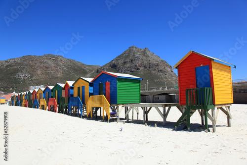 Poster Afrique du Sud Badehaus Südafrika
