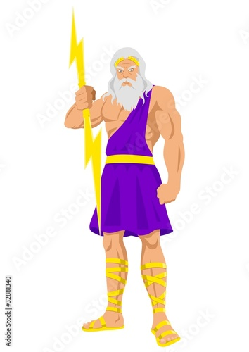 Photo  Vector illustration of Zeus, the Father of Gods and men.