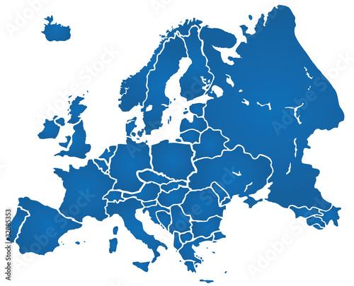Weltkarte Landkarte Europa Karte 1 Fototapete