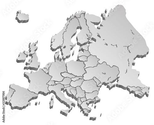 szara-mapa-europy