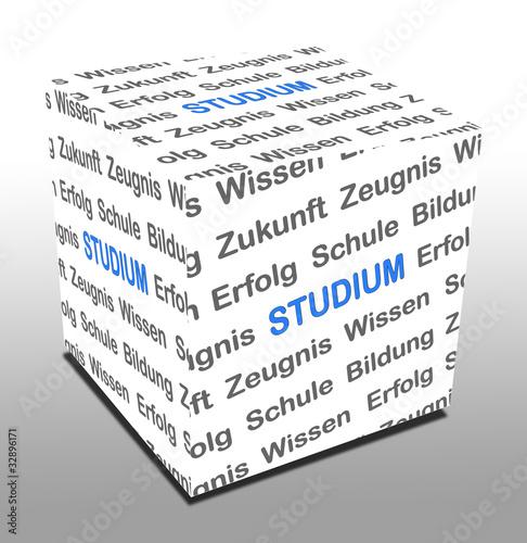 Photo 3D Würfel STUDIUM