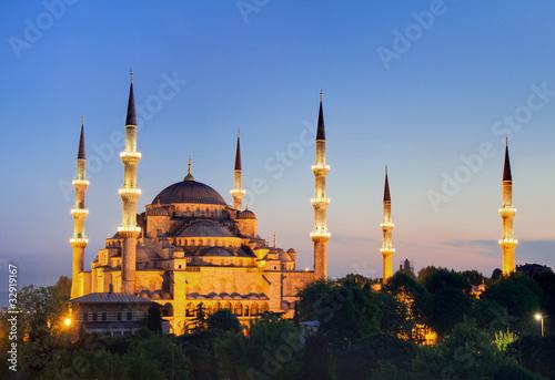 Photo  Blaue Moschee in der Dämmerung