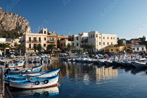 Foto auf AluDibond Stadt am Wasser Gulf of Sicily
