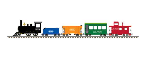 Spanish number train