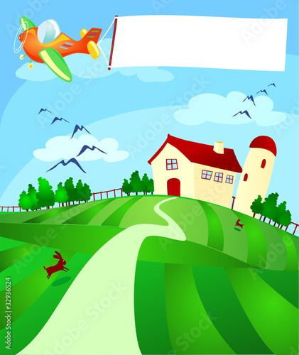Papiers peints Avion, ballon Aereo e fattoria
