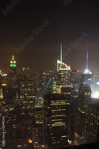 Fototapety, obrazy: New York by night from the top of the rock