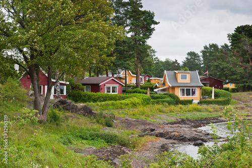Inseln vor Oslo im Fjord Slika na platnu