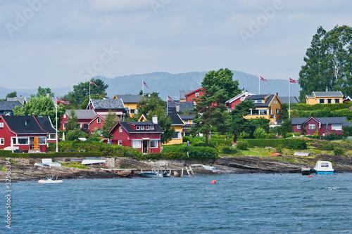 Inseln vor Oslo im Fjord Poster